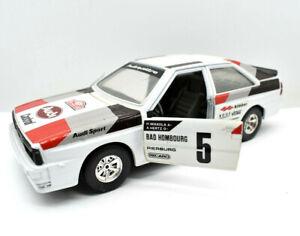 Model Car Audi Quattro 4 Rally Bburago Scale 1/24 diecast Vintage Rallye
