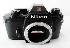Nikon EM BLACK Camera Body Only 35mm SLR -- light meter, shutter work good !!