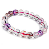 Natural Super Seven 7 Melody Stone 10mm Round Beads Bracelet AAA