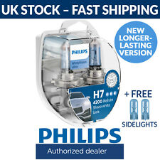 Philips WhiteVision Ultra H7 Car Headlight Bulbs H7 (Twin Pack) White Vision