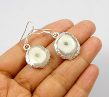 Plated Handmade Earring Jewelry Jc10081 White Solar Agate .925 Silver