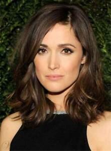 100% Human Hair Natural Medium Wavy Dark Brown Fashion Women's Wig