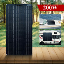 New Waterproof 200W Flexible Solar Panel Cell Module Kit for 12V/24V RV/Car/Boat