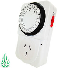 24 Hour Timer Switch Fo Hydroponics Grow Light Water Pump 10A 240V AU Plug 2200W