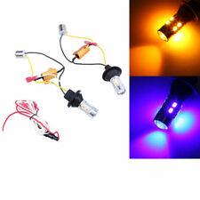 2Pcs Car Vehicle Switchback LED Bulb Front Turn Signal Lights DRL Resistor 1156