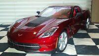 1/18 Scale Diecast Maisto 2014 Chevy Corvette Burgandy Red (Loose)