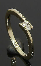 9 Carat Yellow Gold 2 Stone X-Over Diamond Ring 0.05ct 'K 1/2' 9CT (80.17.269