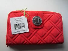 VERA BRADLEY Turnlock Wallet SUNSET RED RTL $64 NWT **Free Shipping**