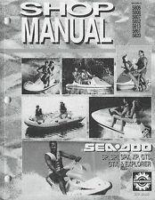 1993 SeaDoo SP SPI SPX GTS GTX XP Explorer PWC Shop Service Repair Manual 93 CD