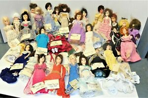 """FIRST LADY DOLL COLLECTION, 43 DOLLS, HAND CROCHETED. 8"""", LABELLED"""