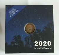 2 Euro Gedenkmünze Finnland 2020 - PP im Etui - Universität Turku + Coincard
