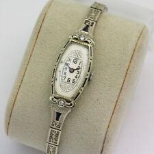 19.5K White Gold Diamond Sapphire A.LeCoultre - Blancpain Art Deco Wristwatch