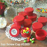 RED Jar! 20 New 1 ounce red Caps Plastic Container Hummingbird 5303 DecoJars USA