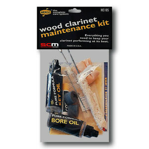Herco HE105 Wooden Clarinet Maintenance, Care & Cleaning Kit
