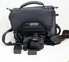 Sony Alpha SLT-A65 24.3MP Digital SLR Camera Black Body Only & Items Shown