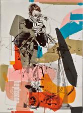 "Philippe Bertho, ""Alberte Segur"", Acrylic on Canvas, Framed"