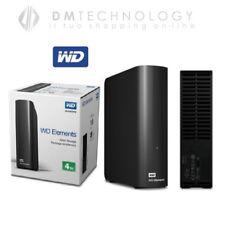 """HARD DISK HD ESTERNO 3,5"""" 4TB WESTERN DIGITAL USB 3.0 4000GB WDBWLG0040HBK-EESN"""
