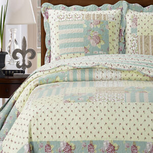 Annabel Luxury Microfiber Printed Coverlet Oversized Bedspread Set with Shams