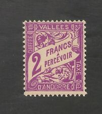 Andorra, French #J19 VF MLH - 1935 2fr Postage Due