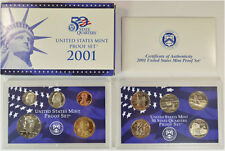 2001-S 10 Coin Proof Set Original Government Packaging W/COA