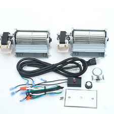 Double Upgraded Blower Fan Kit for Wood / Gas Burning Stove or Fireplace