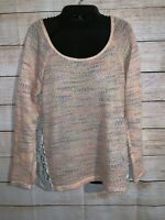 Daytrip Thin Sweater With Floral Lace Back Size Small