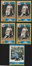 Lot of 5 Tim Raines 4X 1987 Topps #30 Signed Baseball Card Autograph HOF Expos