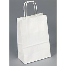 20 Paper Bags With Handles White Wholesaling Bags Paper Merchandise Bags