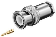 10 x BNC-Stecker mit Schraubanschluss mit Gold Pin für RG 58/U Kabel