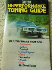 MOTOR HI-PERFORMANCE TUNING GUIDE 1973 CLASSIC CAR  'HOW-TO' ILLUSTRATED