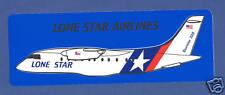 Dornier 328 Lone Star Airlines US Defunct Label Sticker