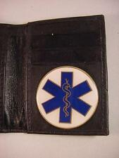 EMS EMT CNA Emergency Medical BLACK LEATHER BIFOLD CREDIT CARD WALLET ID NEW