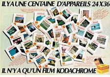 PUBLICITE ADVERTISING  1982   KODAK  (2 pages)   appareils photo 24x36