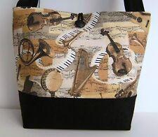 MUSIC GUITAR BANJO PIANO TUBA SAX TRUMPET HANDBAG PURSE POCKETBOOK TOTE BOOKBAG
