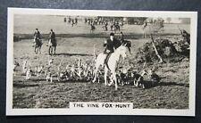 Vine Fox Hunt   Hampshire   1930's Vintage Card  CAT A