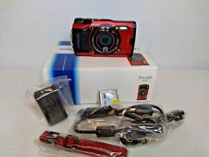 Olympus Tough TG-6 12MP Waterproof Digital Camera Red 050332192454