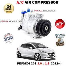 FOR PEUGEOT 208 1.0 1.2 THP 2012--> ORIGINAL AC AIR CONDITION COMPRESSOR