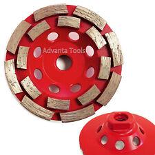 4 Double Row Concrete Diamond Grinding Cup Wheel 16seg 58 11 Arbor