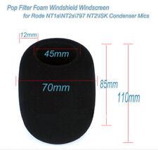 Foam Windscreen Pop for Rode NT1a NT2s NT2 ISK MICs USB Condenser Mic Pop Filter