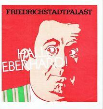 Hallo Eberhard Cohrs Friedrichstadtpalast Berlin Revue Programm 1975 Vonderwerth