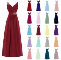 Formal Long Chiffon Wedding Evening Party Ball Gown Prom Bridesmaid Dress 6-24