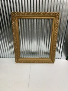 Vintage ~ Large ~ GOLD ~ Picture Frame ~ BAROQUE ~ Wooden ~ Textured