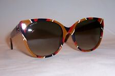 NEW GUCCI SUNGLASSES GG 0097S 004 YELLOW/BROWN AUTHENTIC 0097