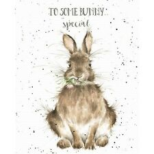 Wrendale Designs Happy Birthday Greeting Card Rabbit Daisy Some Bunny Special