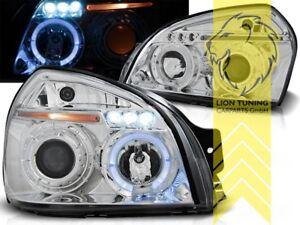 LED Angel Eyes Scheinwerfer für Hyundai Tucson chrom