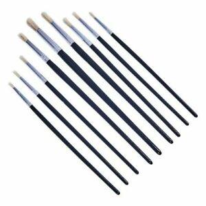 9 Round  Artist Paint Brushes Professional Brush Set  Art Craft Model Making UK