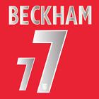 BECKHAM #7 - ENGLAND 2004/06 AWAY NAMESET PRINT HIGH QUALITY PVC