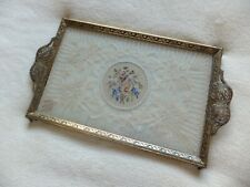 Vintage Delina Petit Point & Lace Vanity / Dressing Table Tray