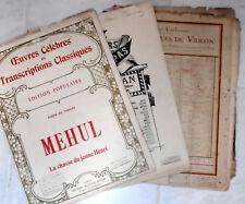 Partitions Violon, Piano, SCHUBERT, MEHUL,WAEL-MUNK,HERMAN VENDEUR ABSENT JUSQU'