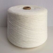 Rayon Chenille Cone Yarn Natural White Weaving Knitting worsted weight 6 Lb New